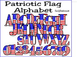 patriotic flag alphabet printable everyday parties