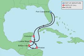 port canaveral map itinerary map for 7 caribbean port canaveral