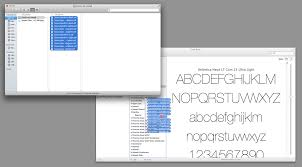 install multiple fonts at once in mac os x howchoo