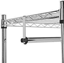 Shelf With Clothes Rod Wire Shelf Hangers Hanger Inspirations Decoration