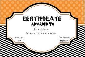 18 halloween certificate templates free printable word designs