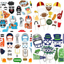 printable football photo booth props glitter u0027n spice