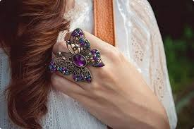 beautiful big rings images Latest trend of big artificial rings for girls life n fashion jpg