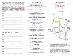 Charity Golf Tournament Welcome Letter tournament entry form par four charities annual amateur golf