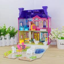 chambre jouet miniature villa maison maisons de poupées jouets heureux famille