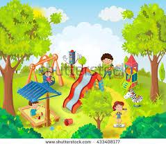 children park vector illustrati stock vector 433408177
