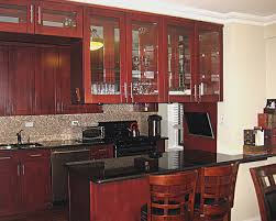 Kitchen Cabinets Glass Doors Glass Door Kitchen Cabinets Add Striking Touch To The Interior