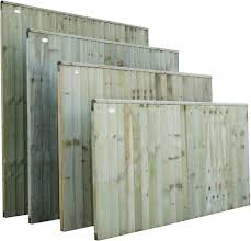 garden fence panels wooden treated fencing panels