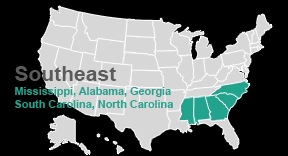 map usa southeast home southeast comprehensive center