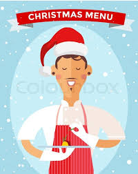 special christmas menu cook chef vector illustration cook chef