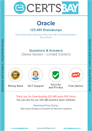 1z0 485 dumps download 100 valid oracle 1z0 485 exam questions