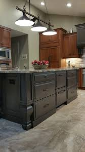 two tone kitchen cabinets and island henry two tone kitchen remodeling kitchen design