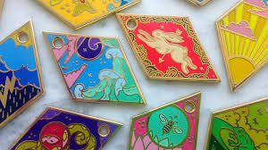 the tessera oracle enamel fortune telling charms by