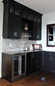 floor and decor cabinets home bar or wine station with fridge and sink espresso