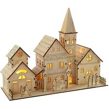 christmas village led decoration 3 laser cutting projects to try