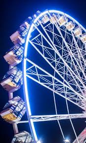 observation wheel at winter
