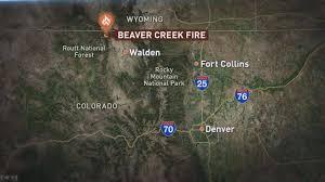 Wyoming Wildfires Map 9news Com Beaver Creek Fire Still Growing