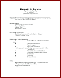 resume exles for students with no work experience resume resume with no experience template
