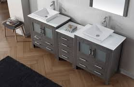 72 Vanity Cabinet Only Virtu Usa Dior 82 Double Bathroom Vanity Set In Zebra Grey