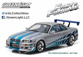 car nissan skyline greenlight collectibles made 2 fast 2 furious movie car nissan