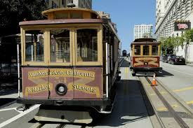 san francisco cable cars sit idle on california during