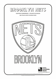 coloring pages basketball cool coloring pages nba teams logos brooklyn nets logo