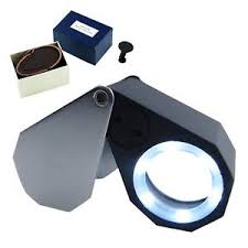 10x magnifying glass with led light mini 10x magnifier jeweler loupe magnifying glass eye triplet lens 6