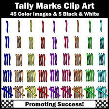 tally marks clip art elementary math clipart for worksheets