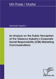 thesis marketing topics an analysis on the public perception of the tobacco industry s an analysis on the public perception of the tobacco industry s