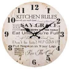 kitchen rules clock 34 cm amazon co uk kitchen u0026 home