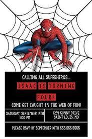 free printable spiderman invitations birthday party invitation