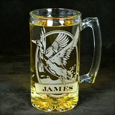 etched glass vase personalized 1 personalized mallard beer stein etched glass duck mug for bird