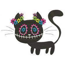 black cat day of the dead dia de los muertos filled machine embroidery design digitized pattern 700x700 jpg