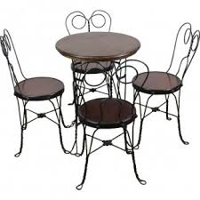 ice cream table and chairs ice cream parlor chairs visual hunt