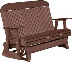 Patio Glider Bench Luxcraft Poly 5ft Classic Highback Style Glider Swingsets