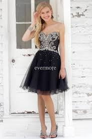 black short beaded cocktail party dresses sweetheart a line