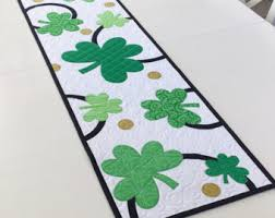st patrick s day table runner quilted table runner pattern table runner epattern table topper
