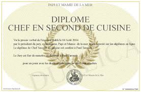 second de cuisine diplome chef en second de cuisine