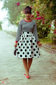 how to wear a white and black polka dot skirt 11 looks women u0027s