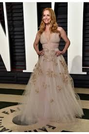 Vanity Fair Wedding Leslie Mann 2017 Vanity Fair Oscar Party Embroidered Prom Evening