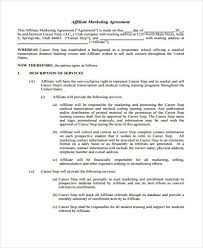 7 marketing agreement form samples free sample example format