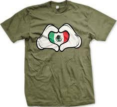 Cartoon Mexican Flag Mexican Flag Cartoon Hands Heart Mexico Brown Pride Mens T Shirt