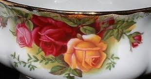 royal albert country roses and sugar 1960s made in