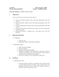 Example Of A Basic Resume by Application Letter Format Full Block Style