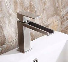 corrego lucca series lavatory faucet brushed stainless ebay