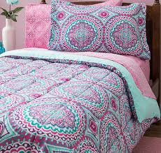 Teen Bedding And Bedding Sets by Pink Purple Aqua 8 Pc Twin Microfiber Comforter Set W Sheets Girls