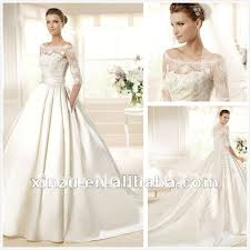 wedding dress sle sale london hot selling satin lace 3 4 sleeve wedding dress in