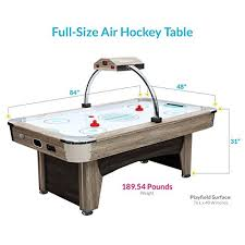 84 air hockey table amazon com harvil 7 foot indoor air hockey table beachcomber