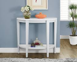 Accent Table L Monarch Specialties White Console Accent Table