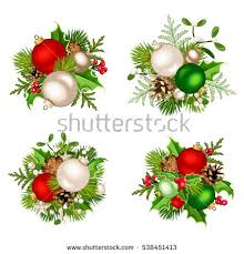 set four vector decorations stock vector 538451413